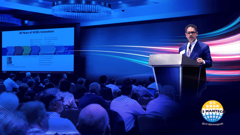 CEO Chuck Mattera delivers keynote at CS Mantech 2019 on VCSELs and their applications