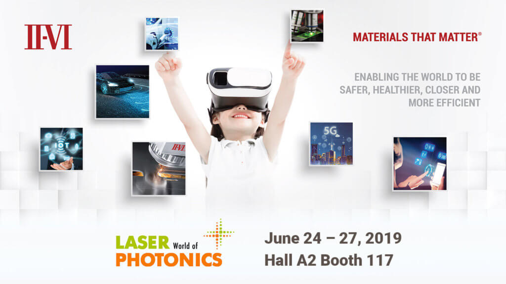 II-VI Incorporated to Showcase Innovations at Laser World of Photonics 2019